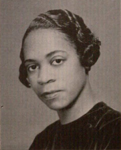Black and white yearbook portrait of Marie Clark Taylor.