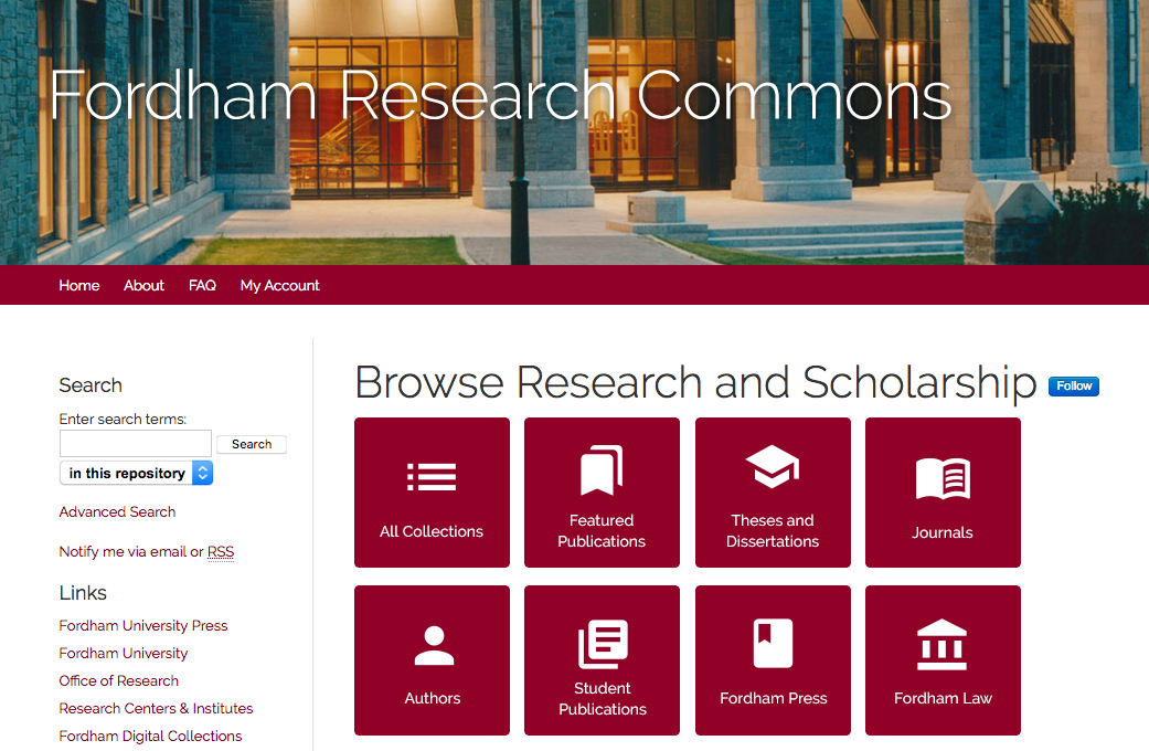 Fordham University Libraries Debuts Institutional Repository Update