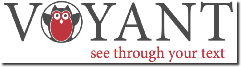 "Voyant logo with the tagline: ""see through your text."""